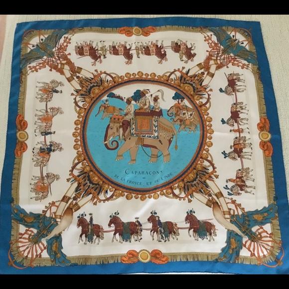 Hermes Accessories   Herms Scarf Caparacons De La France Et De Linde ... e4e0302bbb9